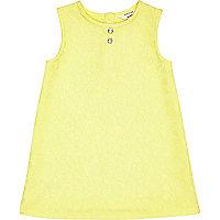 Mini girls yellow lace A-line dress