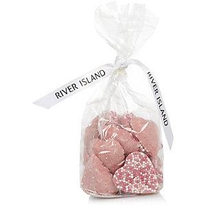 Kids pink sprinkle heart chocolate sweets
