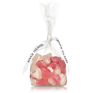 Kids white and pink jelly heart sweets