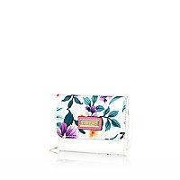 Girls tropical print trifold purse