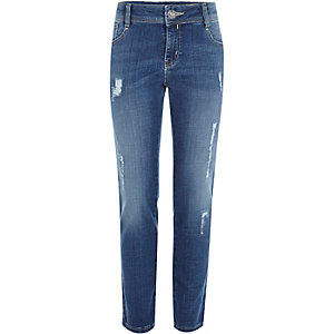 Girls mid wash blue Jenna slim jeans