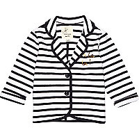 Mini girls oh la la navy striped blazer