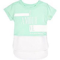 Mini girls amour print t-shirt