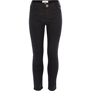 Girls black coated jegging