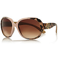 Girls brown leopard print sunglasses
