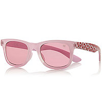 Girls pink watermelon print retro sunglasses