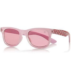 Girls pink watermelon print retro sunglasses