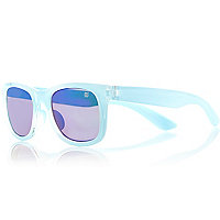 Girls blue retro sunglasses