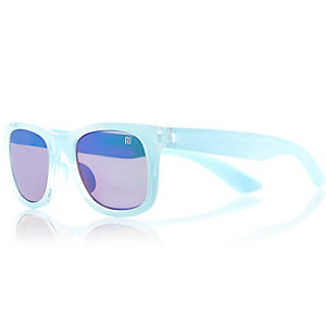 Girls blue retro sunglasses