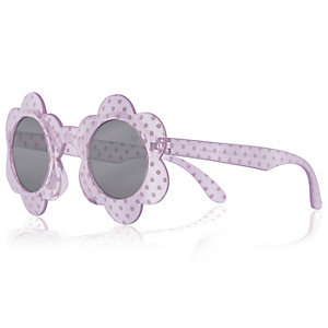 Girls purple flower sunglasses