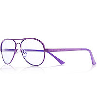Girls purple aviator sunglasses