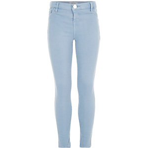 Girls blue light wash jeggings