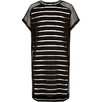 Girls black mesh beach cover up dress