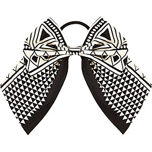 Girls monochrome bow hair band