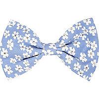 Girls blue denim floral hair clip