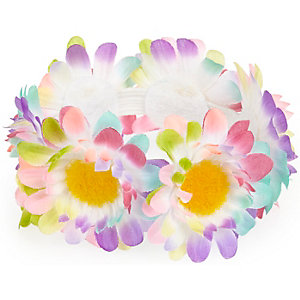 Girls yellow floral bun hair band