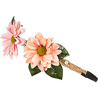 Girls daisy stretch hair garland