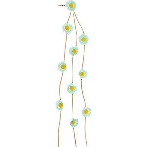Girls blue daisy garland clip