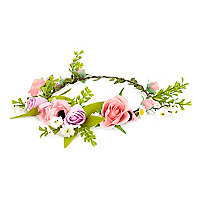 Girls pink hair garland