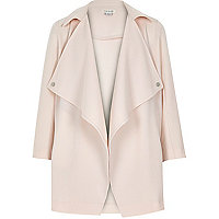 Girls light pink lightweight coat