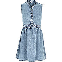 Girls sleeveless denim dress