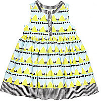 Mini girls beach hut smock dress