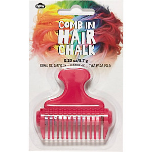 Girls pink rainbow hair chalk