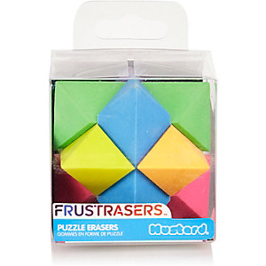 Girls red frustrasers cube erasers