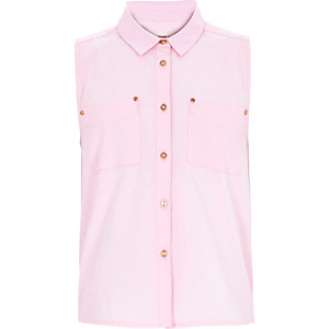 Girls pink sleeveless shirt