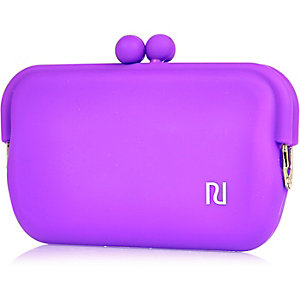 Girls purple jelly sunglasses case