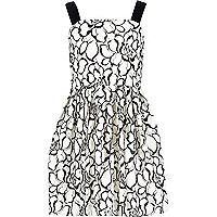 Girls white lace prom dress