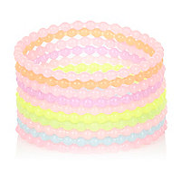 Girls pastel jelly bracelets pack