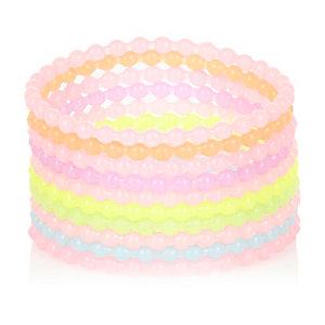 Girls pastel jelly bracelets pack