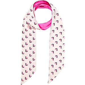Girls pink heart print scarf