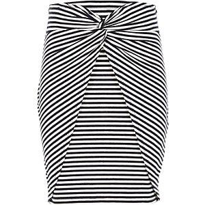 Girls blue stripe knot front tube skirt