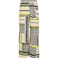 Girls tropical print palazzo pants