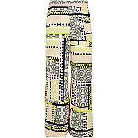 Girls tropical print palazzo pants
