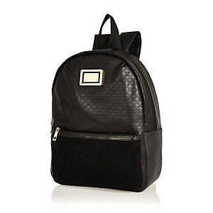 Girls black backpack