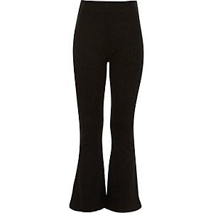 Girls black flare leggings