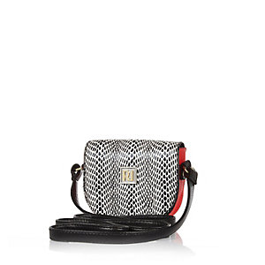 Girls black cross body bag
