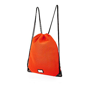 Girls orange mesh backpack