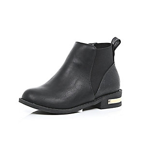 Girls black Chelsea boots