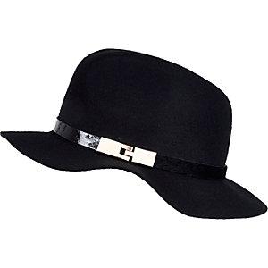 Girls black fedora hat