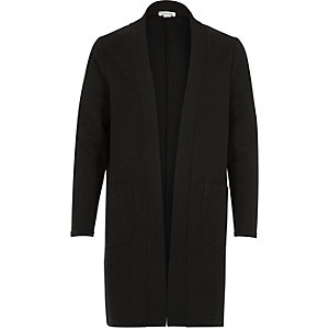 Girls black side split duster jacket