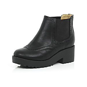 Girls chunky Chelsea boots