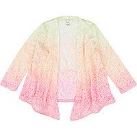 Mini girls pink dip dye kimono