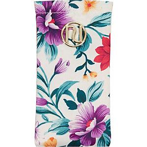 Girls floral print sunglasses case