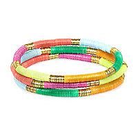 Girls gold sequinned bracelets pack