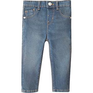 Skinny Jeans in Blau mit mittlerer Waschung