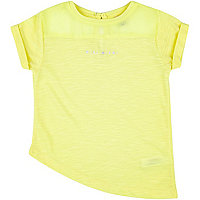 Mini girls lime asymmetric miami t-shirt